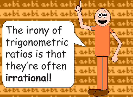 Dr. Foolish: The irony of trigonometric ratios is that they're often irrational!